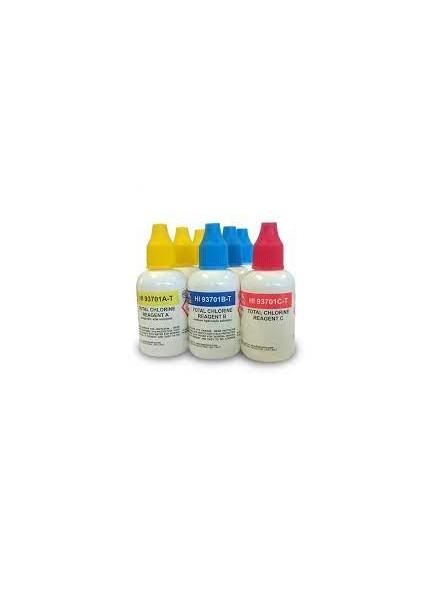 HI 93701-T Odczynniki do kolorymetrów, chlor ogólny, (300 testów w płynie)