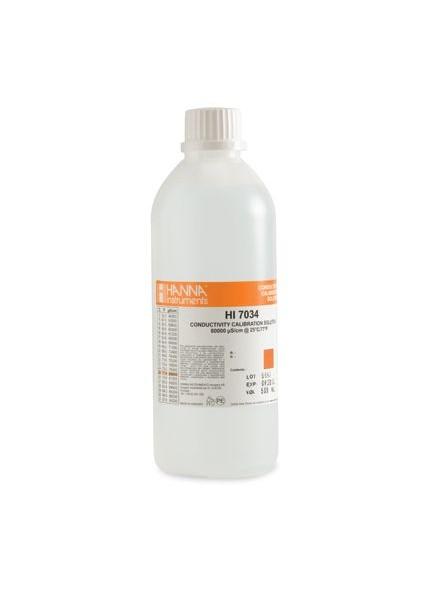 HI 7034L - Roztwór kalibracyjny 80000 µS/cm, 500 ml